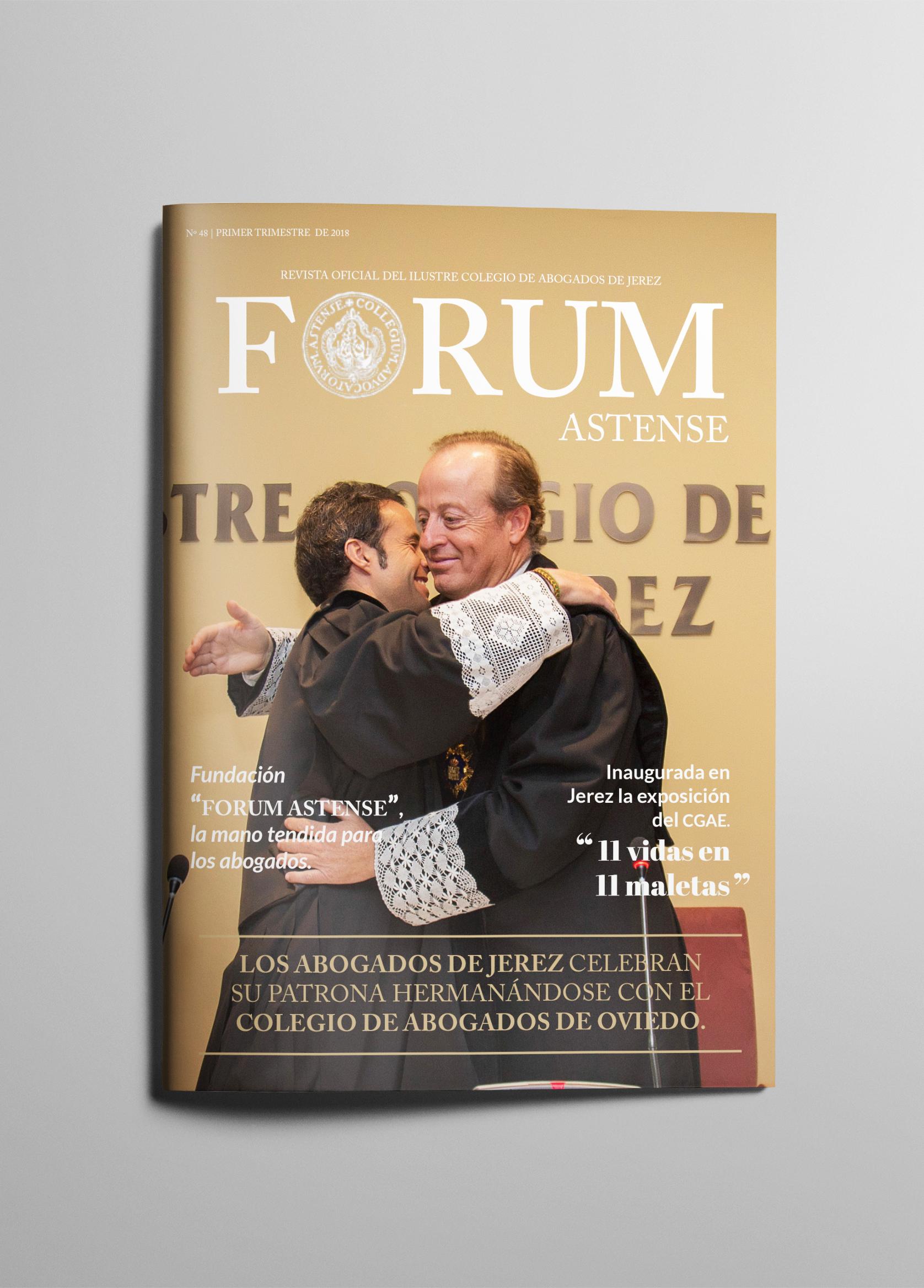 Nueva Maquetación Y Diseño Editorial Para Forum Astense.