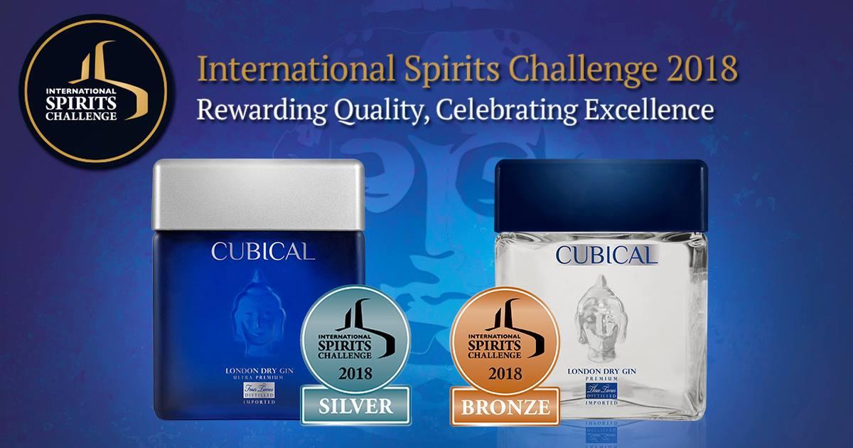 Cubical Premium Y Cubical Ultra Premium Premiadas En El International Spirits Challenge 2018.