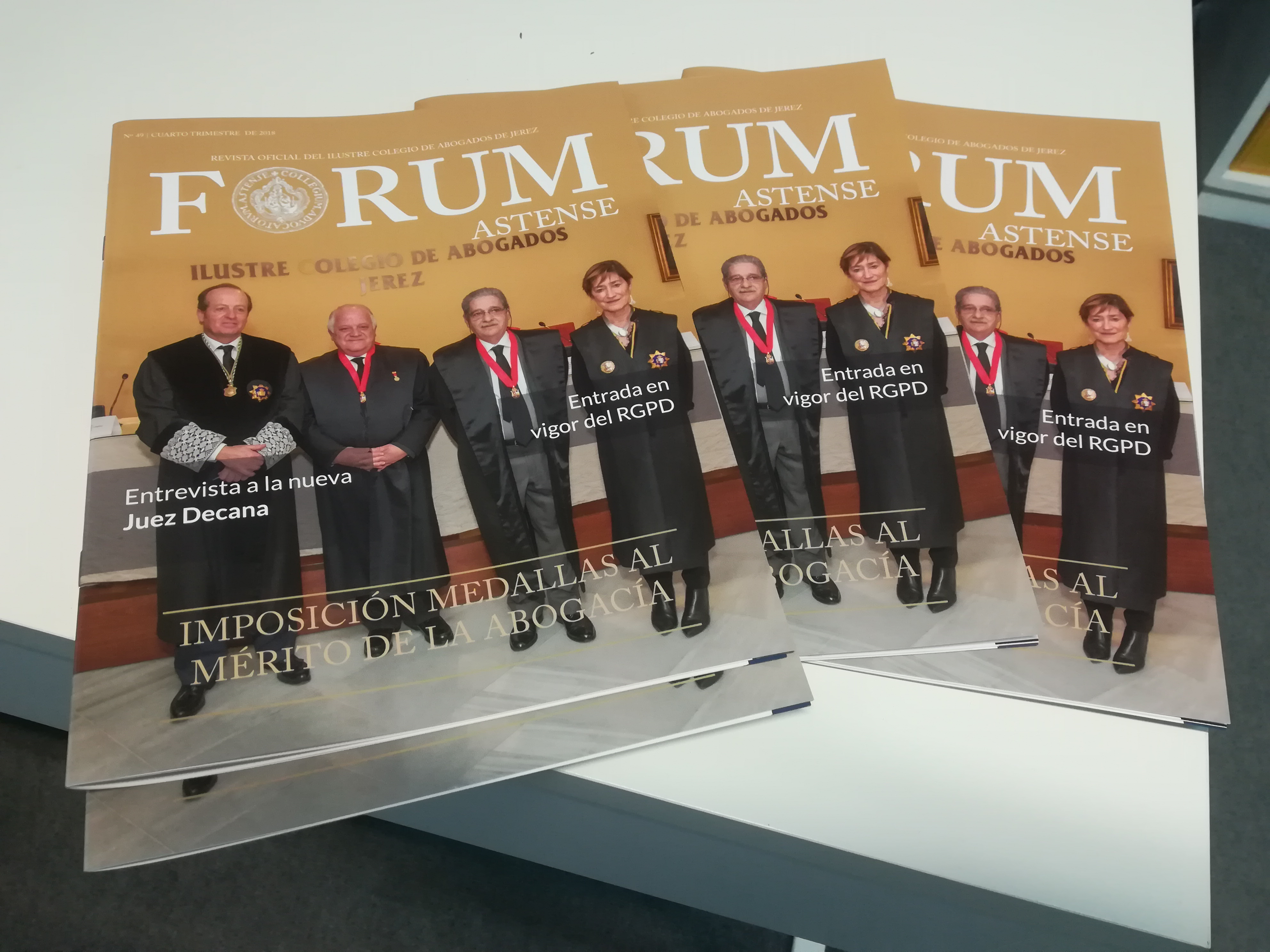 Diseño De La Revista Nº 49 Forum Astense. Ilustre Colegio De Abogados De Jerez.